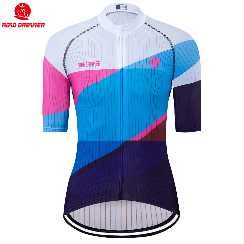 Bike Jersey Short-Sleeve Triathlon Maillot-Ciclismo Women Blue New Mtb Lycra Breathable