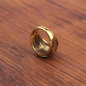 Image 5 - Antique or couleur anneaux musulmans hommes Islam arabe Totem Allah anneaux bijoux musulmans haute qualité anneau bijoux accessoires pour hommes