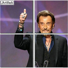 Diamond painting JOHNNY HALLYDAY