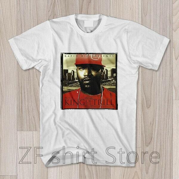 BUN B camiseta REI DO TRILL T shirt dos homens t shirt das mulheres cobre t 100% algodão de Manga Curta t-shirts