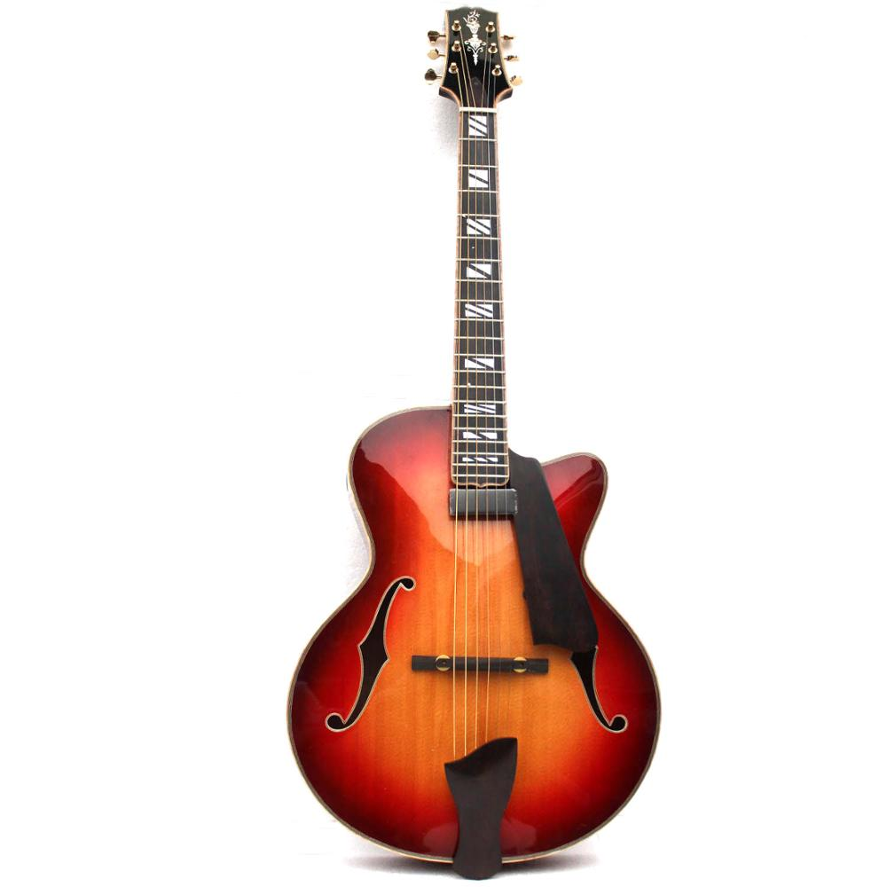 Musoo brand handcraft Carved solid archtop jazz guitar