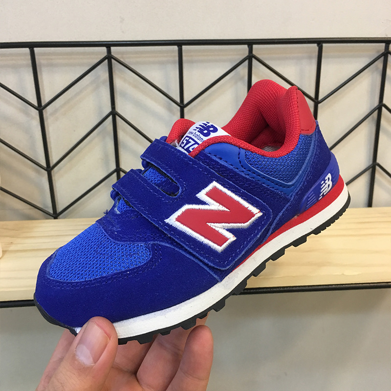NB CHILDREN'S Shoes BOY'S Athletic Shoes 2019 New Blue Color Velcro Autumn Young STUDENT'S Casual Shoes Big Boy Running Shoes