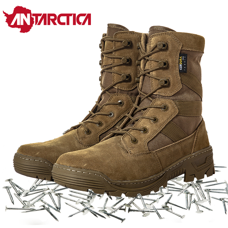 Stab Resistant Trekking Hiking Shoes Men Military Tactical Combat Layer leather Work Sport Boots Nylon Waterproof Sneakers Women