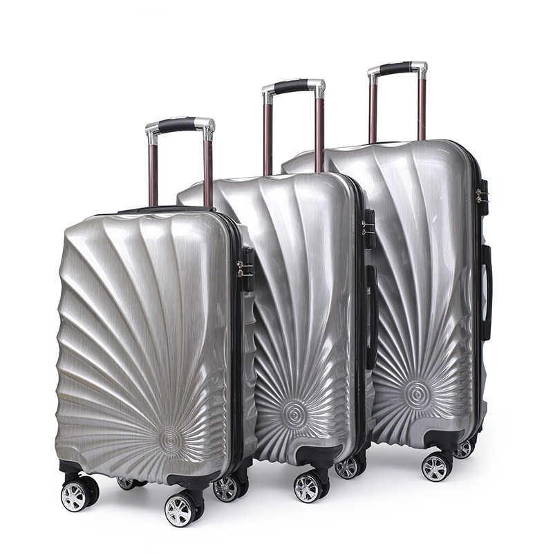 NEUE 20/24''28 zoll 3PCS rollen gepäck set reise-koffer mit spinner räder Kabine tragen auf trolley gepäck tasche mode fall