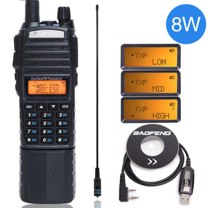 Image 1 - Baofeng UV 82 8 W Walkie Talkie Uv82 Dual Band + NA 771 เสาอากาศ + สายโปรแกรม 10KMยาวUV 82 สำหรับล่าสัตว์เดินป่า