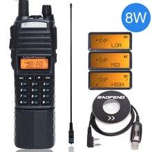 """Baofeng UV 82 8 W עוצמה ווקי טוקי uv82 Dual Band + NA 771 אנטנה + תכנית כבל 10 ק""""מ ארוך טווח UV 82 עבור ציד טיולים"""