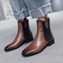 Women's Booties Female Square Leather Single Boots 2019 Autumn and Winter New Short Tube Martin Boots Low Heel and Ankle Boots women autumn and winter new arrivals boots female martin bootsshoes female kitten heel chunky heel shoes and ankle boots classi