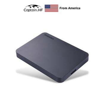 US Captain Canvio A3 Basics Portable External Hard Drive 1TB, 2TB Black HDD USB 3.0 for PC and Laptops seagate lacie rugged mini external hdd 1tb 2tb 4tb usb 3 0 5400rpm 2 5 portable hard drive 100