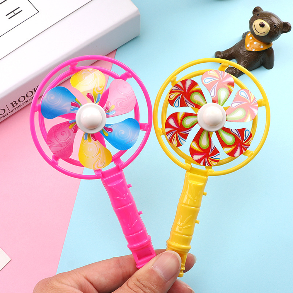 1pc Colorful Whistle Windmill Kids Party Toys Outdoor Play Game  Classic Plastic Whistles Birthday Party Toys Children Gift