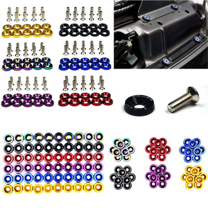 10PCS M6 JDM Car Modified Hex Plate Bolts Fasteners Fender Engine styling Concave Washer Bumper Screws Fender Washer License Car