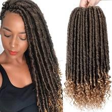 Hair-Extension Braid Crochet Faux-Locs Goddess Braiding Beauty Soft Natural Synthetic