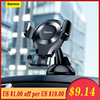 Baseus Gravity Car Phone Holder Mount Windshield Sucker Strong Suction Cup GPS For iPhone For Samsung Car Mobile Phone Holder car swivel suction cup mount holder for apple htc samsung cellphone