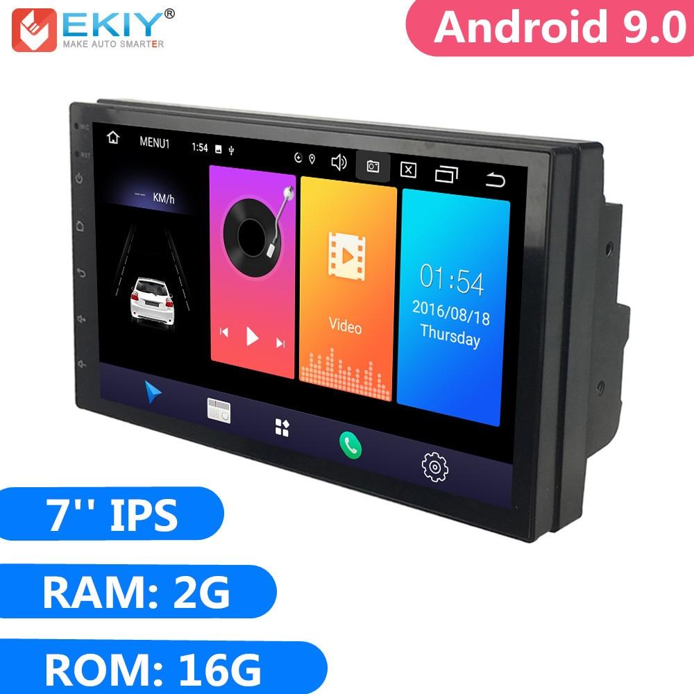 EKIY 7'' IPS 2G 16G Android 9.0 2 Din Universal GPS Navigation Autoradio Car Multimedia Player BT 4G Wifi OBD Stereo Radio Video