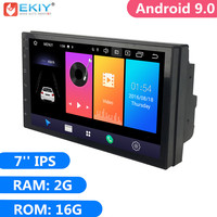 EKIY 7'' IPS 2G 16G Android 9.0 2 Din Universal GPS Navigation Autoradio Car Multimedia Player BT 4G Wifi OBD Stereo Radio Video