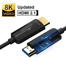 MOSHOU Quang Có Cáp HDMI 2.1 Cho PS5 PS 4 8K/60Hz 4K/120Hz 48Gbs Có Âm Thanh Video HDMI Dây HDR 4:4:4 Lossless Khuếch Đại