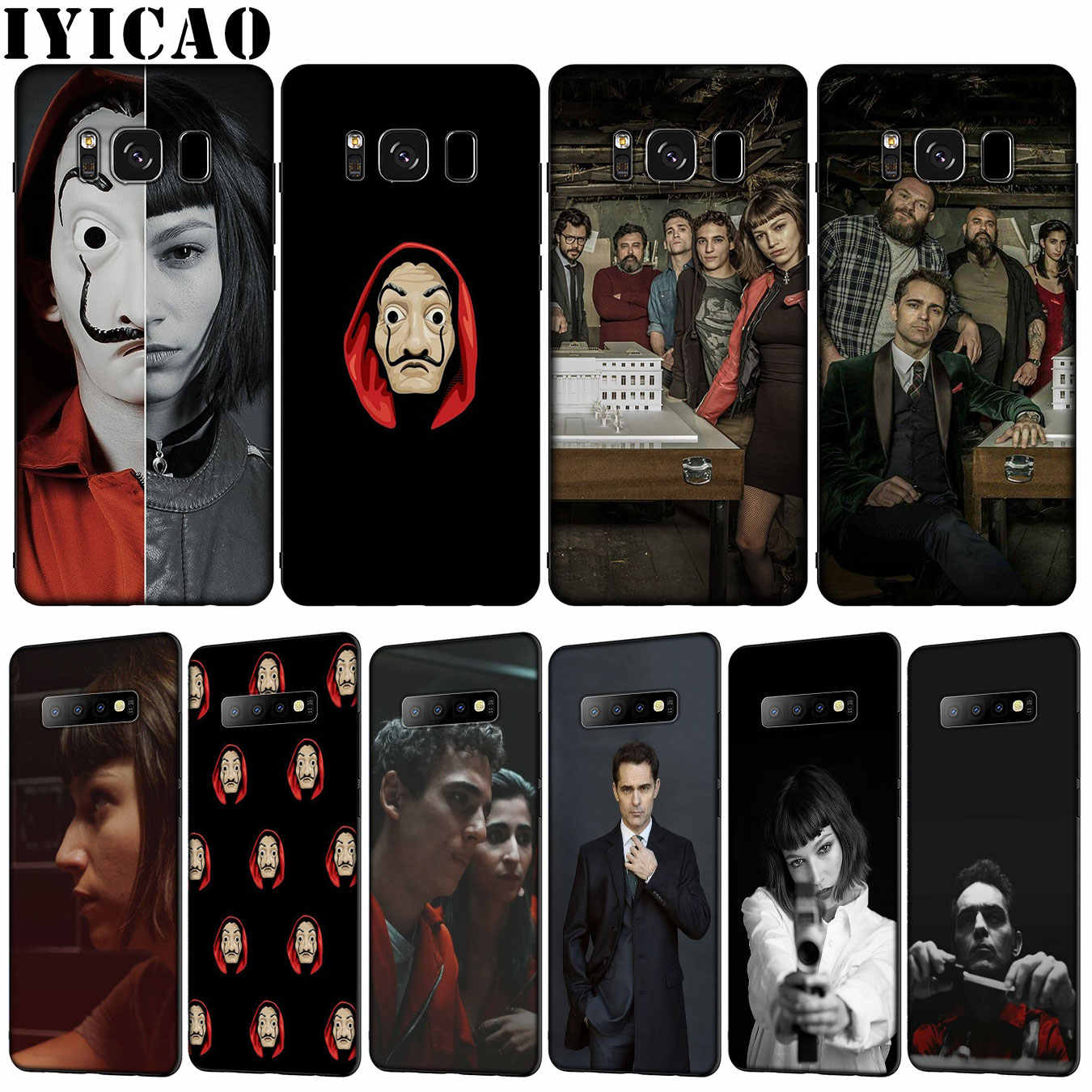 IYICAO TV The Paper House Money Heist Soft TPU Silicone Phone Case for Samsung Galaxy S10 E S9 S8 Plus S6 S7 Edge S10e