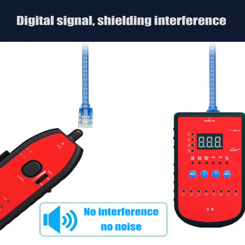 Hot sale RJ11 RJ45 Cat5 Cat6 Phone Wire Tracker Tracer Toner Ethernet LAN Network Cable Tester Line Detector Finder network cable testing diagnostic tool kit set rj45 rj11 ethernet lan cable tester voltage detector punch tool wire tracker