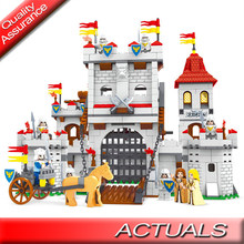 1118 Pcs Compatibile Legoed Cavaliere Castello Carriage Medievale Ausini 27110 Building Blocks Soldato Figure Set Mattoni Giocattoli per Bambini(China)