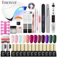 Nail Set 36W UV LED Lamp For Manicure Gel Nail Polish Set Kit Soak Off Gel Varnish For Nail Art Set Dryer Machine Tools(China)