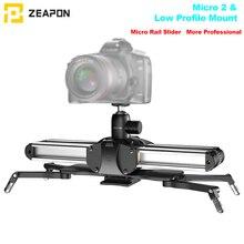 Zeapon micro 2 trilho deslizante liga de alumínio, leve, portátil, para dslr e câmera sem espelho, com easylock 2 montagem de perfil baixo