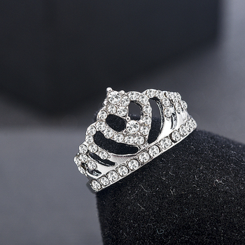 2020 New Fashion Crown Shape Rhinestone Crystal Rings Women Girl Wedding Bridal Party Ring Jewelry engagement ring
