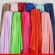 Stretch satin stoff meter 150cm mantel anzug futter stoff einfarbig bühne kleidung hause service stoff geschenk box verpackung tuch