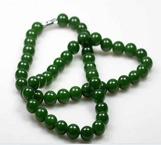 ธรรมชาติสีเขียวลูกปัดสร้อยคอ Jadeite แฟชั่นเครื่องประดับ Charm อุปกรณ์เสริมมือแกะสลัก Lucky Amulet ของขวัญของเธอผู้ชาย