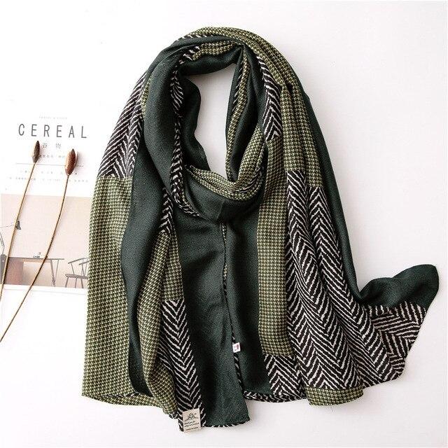 New 2020 desigual cotton Women Print Scarf Bandana Hijab Foulard Scarves cachecol pashmina long poncho femme shawl bandanas 4
