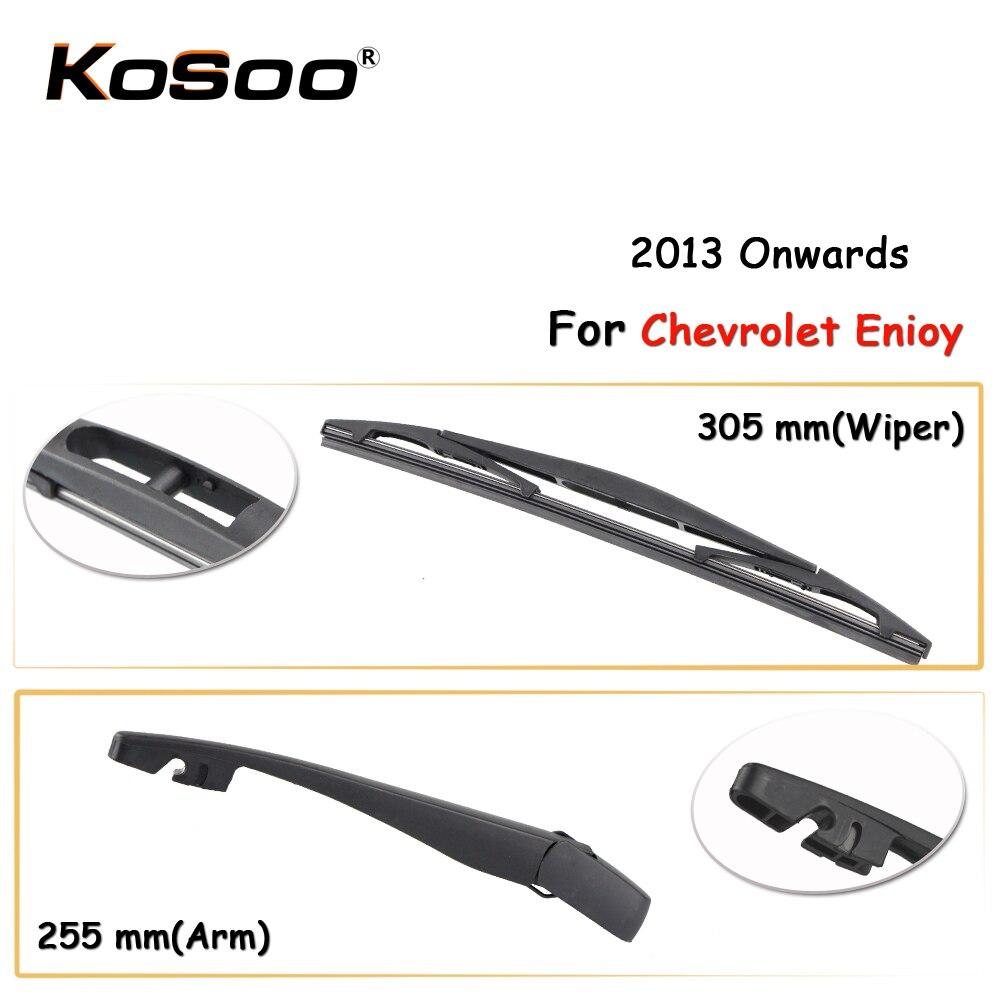 KOSOO Авто Задняя щетка автомобильного стеклоочистителя для Chevrolet Enjoy,305 мм 2013 года задние оконные стеклоочиститель лезвия рычаг, автомобильны...