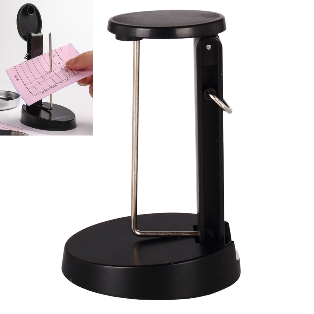 Receipt Holder Simple Stainless Steel Spike Bill Wall-mounted Ticket Fork Stand  Memo Note Spike Stick Stand For Office Hot Sale