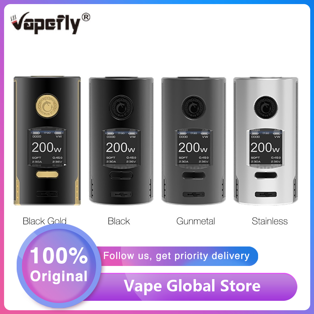 Original Vapefly Kriemhild 200W TC Box Mod With 1.33 Inch TFT Screen Max 200W Fit 18650/20700/21700 Battery Box Vape VS Gen Mod