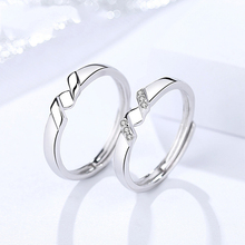 Luxury S925 sterling silver couple ring fashion Korean version of the simple open letter ring suitable for Valentine's Day gift the open championship 2019 day two
