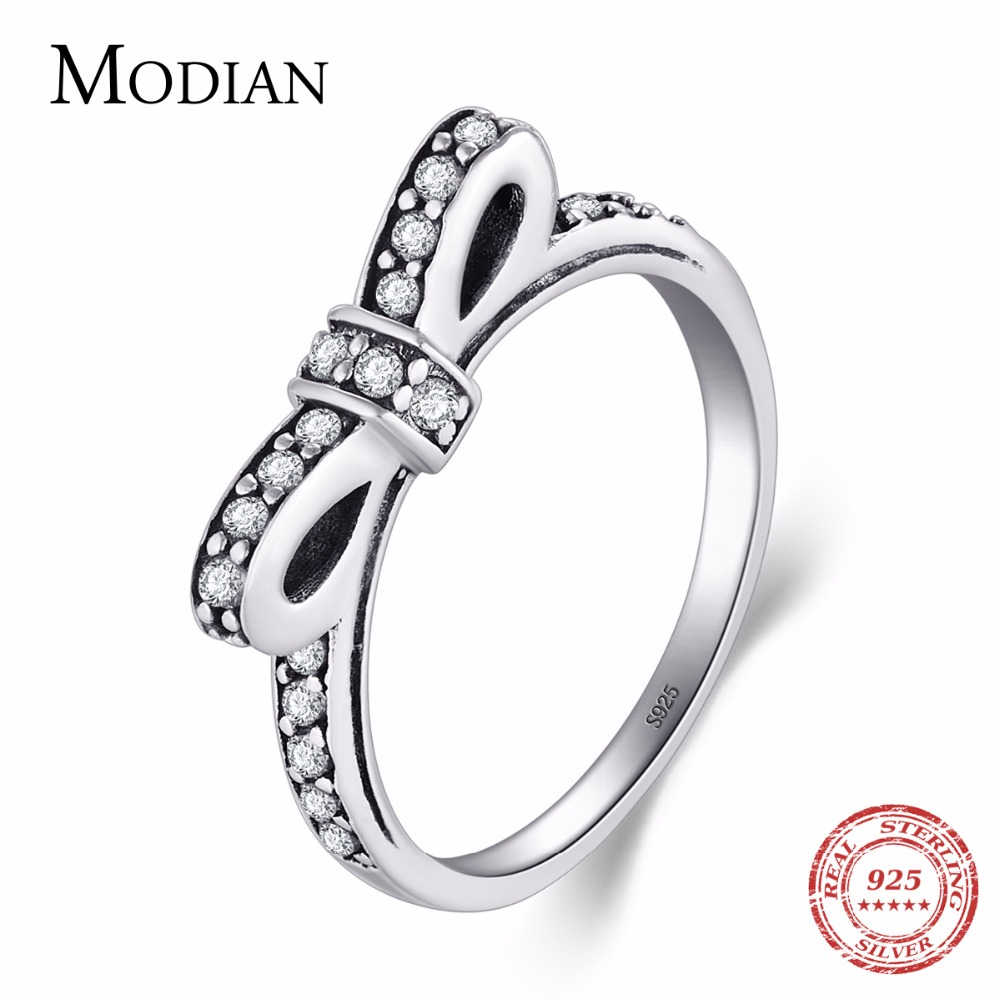 Authentic Jewelry 925 sterling Dazzling Black CZ Stackable Rings for Women Gifts