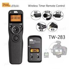 Pixel TW 283 bezprzewodowy zegar zdalnego sterowania spust migawki (DC0 DC2 N3 E3 S1 S2) kabel do aparatu Canon Nikon Sony TW283