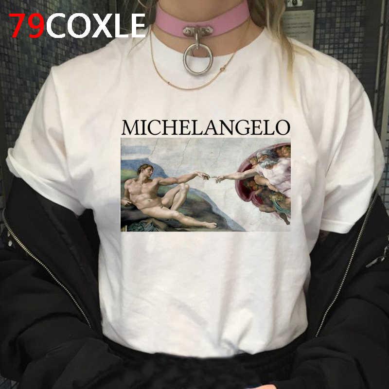 מיכלאנג 'לו דוד גראנג' T חולצת נשים Harajuku אסתטי 90s חולצה Ullzang יד הדפסת חולצת טי מצחיק Cartoon למעלה Tees נקבה