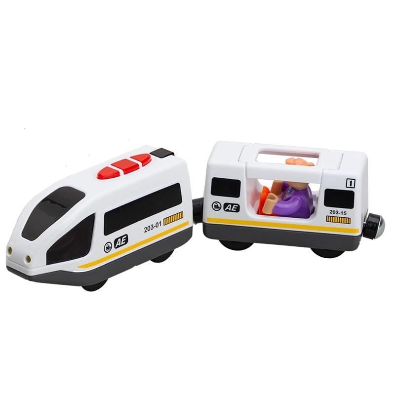 Lodrat e trenave elektrik për fëmijë vendosin lodrën e foleve të - Makina lodër për fëmije - Foto 5