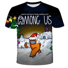 Hot Game T-shirt Baby Girls Tshirt Boys T Shirts For Kids Girl Tops Tee Children's Clothing Teen Clothes Among Us Costume 4-14Y