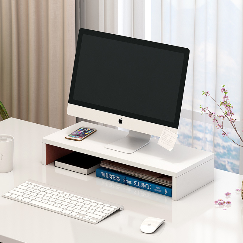 Computer Table On Increased Device Economical Storage Multi-functional Shelf Storage Province Space Desktop Small Bookcase