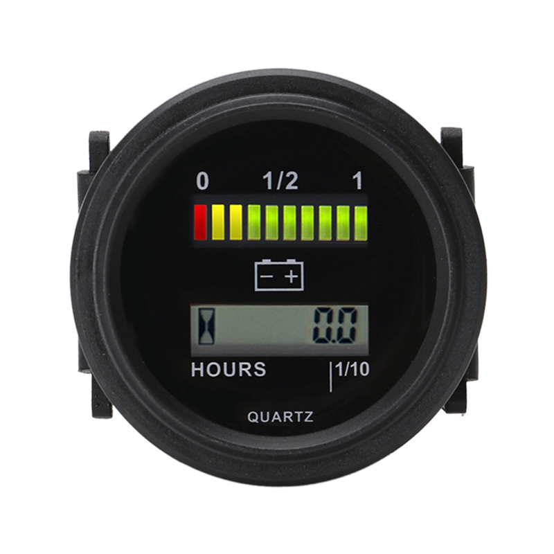 Runde Lcd Stunde Meter mit Led Batterie Anzeige Gauge Gauge 12V 24V 36V 48V 72V für Golf Auto Traktor Kehrmaschine-in Timing-Komponenten aus Kraftfahrzeuge und Motorräder bei title=