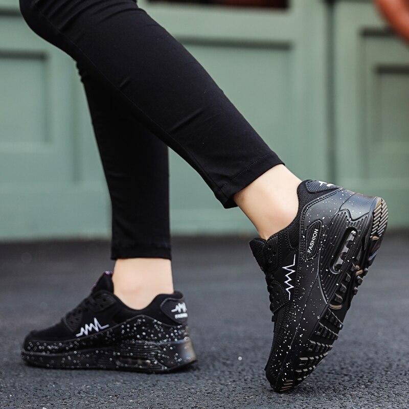 Image 3 - Женские кроссовки из сетчатого материала; модная обувь на плоской подошве с воздушной подушкой; женские кроссовки на толстой платформе; повседневная обувь; Zapatos De Mujer; Новинка; Лидер продажКроссовки и кеды   -