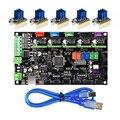 Части 3D принтера MKS Gen V1.4 плата управления Mega 2560 R3 Материнская плата RepRap Ramps1.4 + TMC2100/TMC2130/TMC2208/DRV8825 драйвер