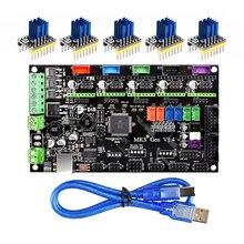 3D Parti Della Stampante MKS Gen V1.4 Scheda di Controllo Mega 2560 R3 scheda madre RepRap Ramps1.4 + TMC2100/TMC2130/TMC2208/DRV8825 Driver