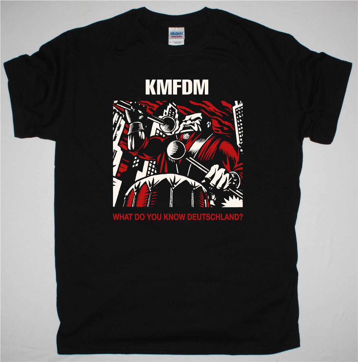 Kmfdm What Do You Know <font><b>Deutschland</b></font> Industrial Mdfmk Die Krupps New Black T Shirt image