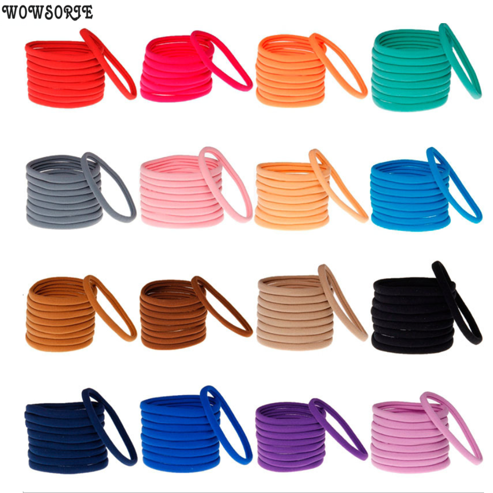 Baby Headband Elastic Hair Band Nylon Headbands 1CM Width Head Wrap Headwear Fashion Kids Baby Girls Hair Accessories 12pcs/lot