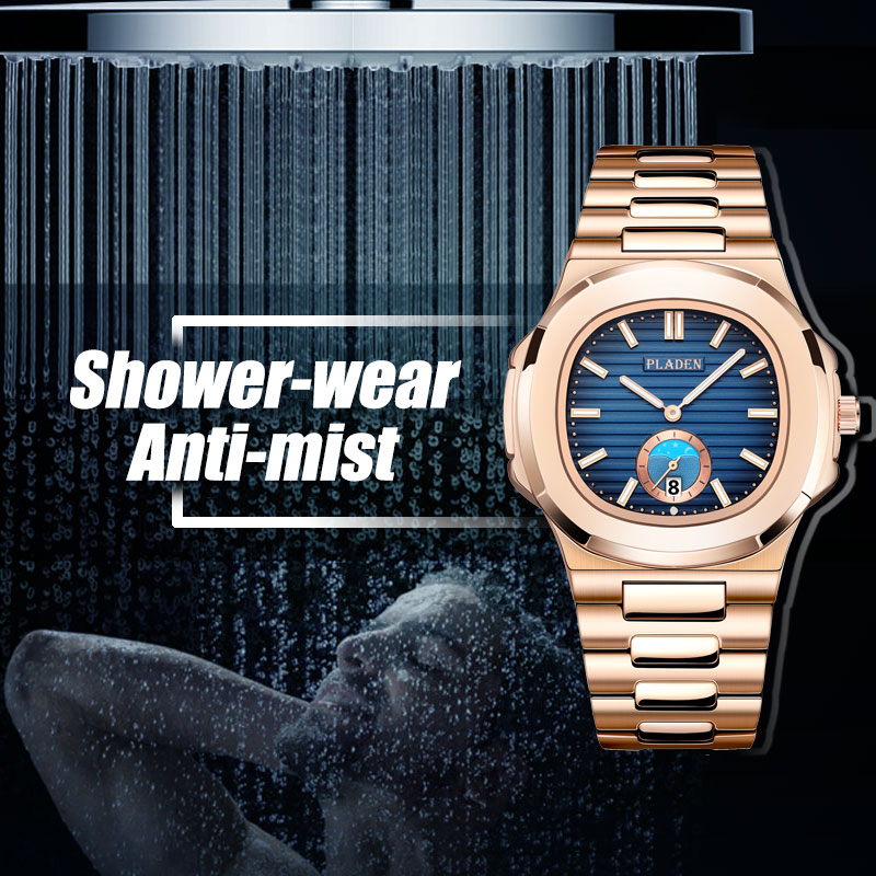 Image 3 - Classic PP NAUTILUS 5711 Designer PLADEN Brand Watch For Men Fully Steel Chronograph AAA Stianless Steel Luminous Business WatchQuartz Watches   -
