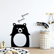 Cute Bear Wall Murals Removable Kids Room Sleep bear Sticker Nursery Decoration Lovely Bears Art AY1972