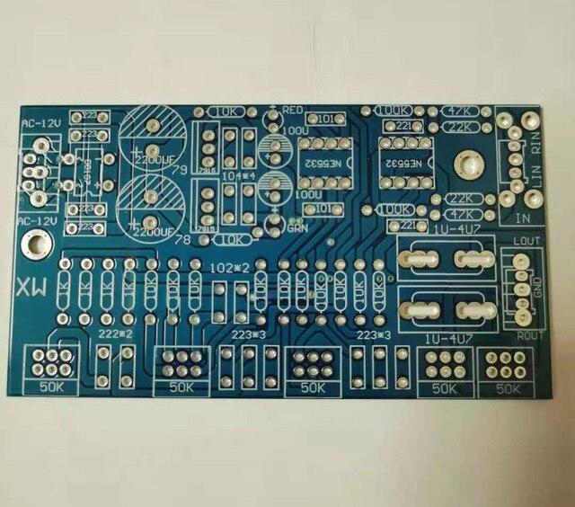 NE5532 مركبتي المضخم لهجة تحول السلطة مكبر للصوت الدائرة PCB فارغة مجلس ديود 7815/79 المزدوج AC12 18V15