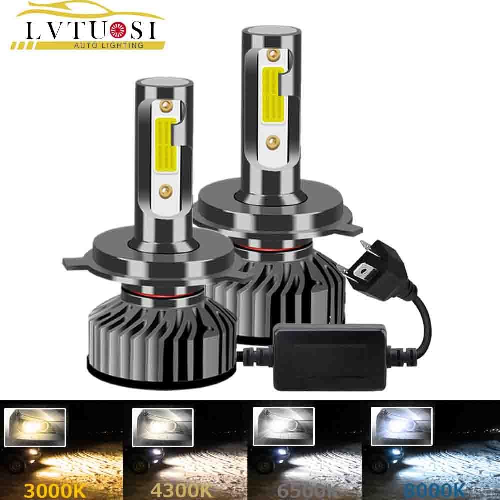 LVTUSI CANBUS H7 LED H4 Car Headlight H1 H3 H11 H4 9003 H8 H9 9005 9003  Auto Lamp AC