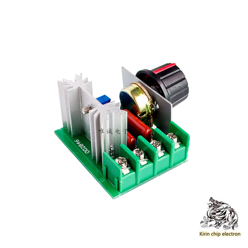 5pcs /lot 2000W Silicon Controlled High Power Electronic Voltage Regulator, Dimming, Speed Regulation And Temperature Regulation