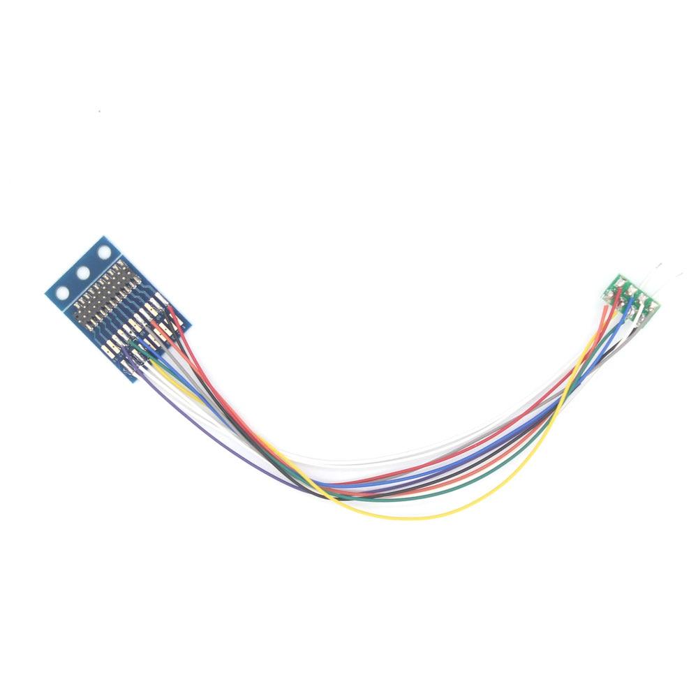 860046 21PIN/21MTC до 8PIN/NEM652 адаптер с проводами для динамиков для марки Dcc модель железнодорожной железной дороги/LaisDcc